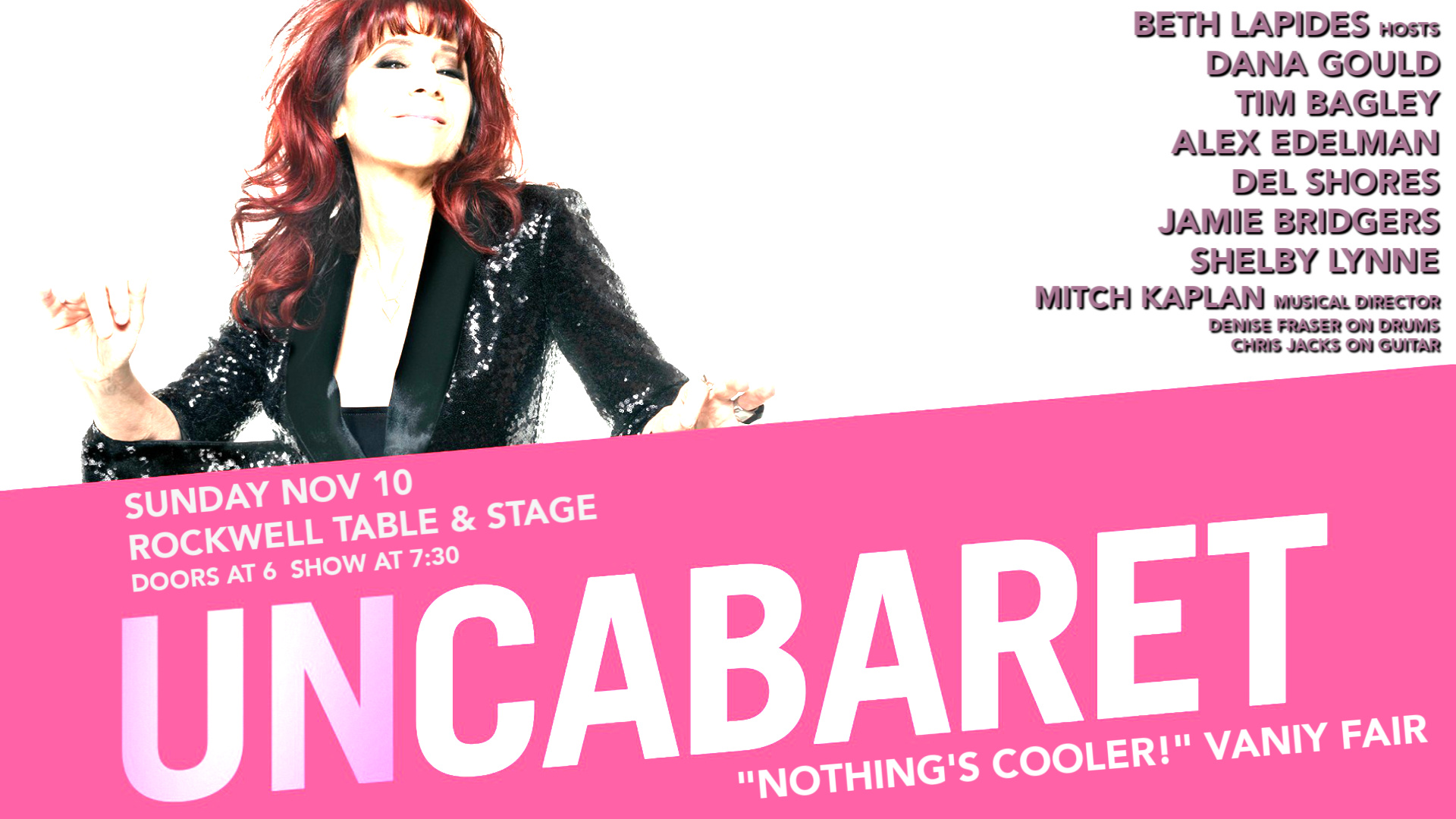 UnCabaret October 13 at Rockwell in Los Angeles featuring the funniest stand up storytelling alternative comedy